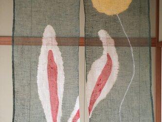 耳うさぎ暖簾・お月様つかまえたよ!の画像
