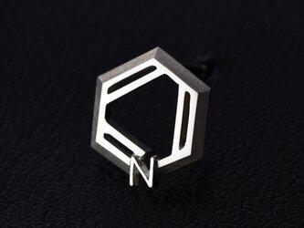 ピリジン 化学式アクセサリー®(ピンブローチ,タイタック)の画像