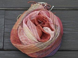 手織りリネンシルクストール・・ピエロの画像