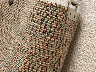 裂き織り 和モダンなショルダーバッグ(ポシェット)の画像