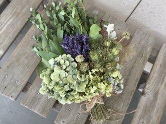グリーンハーブの花束(ラベンダー)の画像