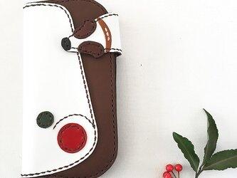 巻き姿iPhone XSケース(赤×緑)の画像