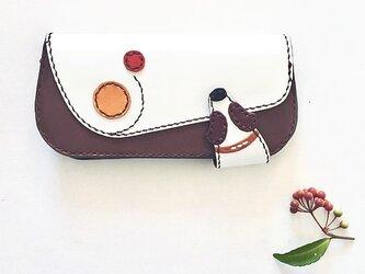 巻き姿長財布(黄×赤)の画像