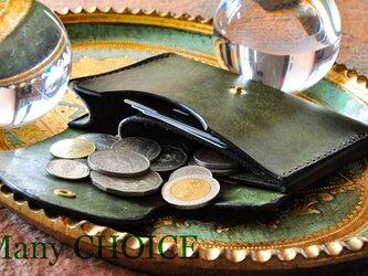 イタリアンレザー・革新のプエブロ・ミニマム財布(オリーバ)の画像