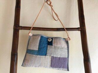 手織りヘンプショルダーバックKの画像