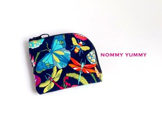 L字ファスナーミニ財布   カラフルな蝶々 *372*の画像