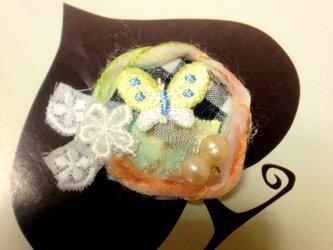 金の卵と蝶の園☆缶バッチの画像