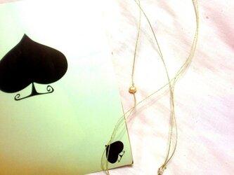 銀のリーフ☆ネックレスの画像