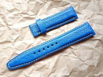 腕時計ベルト 20-18mm Dバックル用 ブルー #30の画像