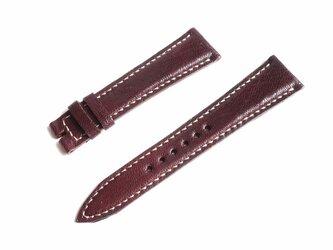 腕時計ベルト 20-16mm ダークブラウン #46の画像
