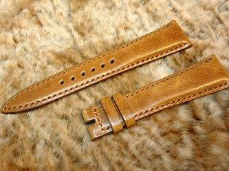 腕時計ベルト 20-16mm ブラウン #47の画像