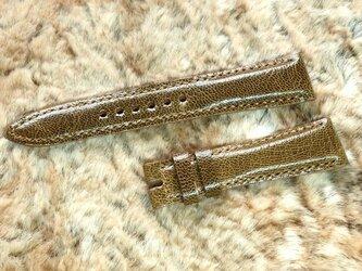 腕時計ベルト 19-16mm ブラウン #59の画像