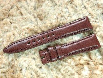 腕時計ベルト 19-16mm ダークブラウン #60の画像