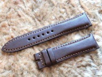 腕時計ベルト 20-18mm ダークブラウン #61の画像