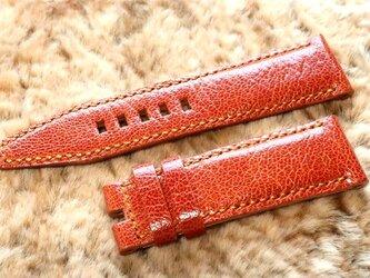 腕時計ベルト 24-22mm パネライ向け オレンジ #55の画像
