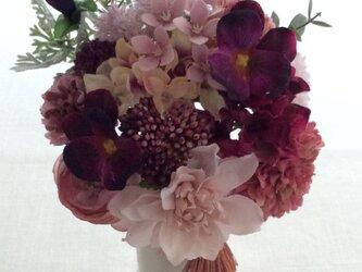 仏花   真珠の涙    朱  (造花、仏壇、お供え、お盆、お彼岸)の画像