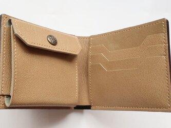 二つ折り財布 コインポケット付き #70の画像