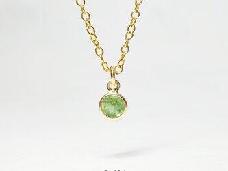 【8月誕生石】輝く1粒。ペリドットのネックレス [送料無料]の画像