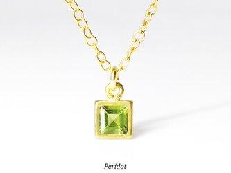 【8月誕生石】新緑の輝き。ペリドットのネックレス [送料無料]の画像