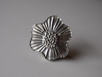 ブローチ(銀彩) 花-4の画像