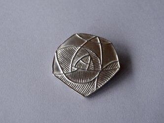 ブローチ(銀彩) 花-5の画像