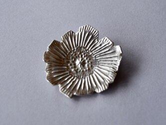 ブローチ(銀彩) 花-15の画像