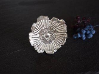 ブローチ(銀彩) 花-18の画像