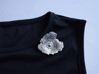 ブローチ(銀彩) 花-16の画像