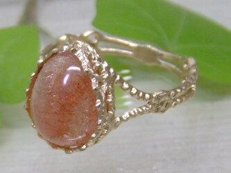 苺のしずく*K14 lunapinkgold lace ringの画像