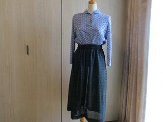 夏着物の透けるスカートの画像