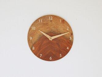 木製 掛け時計 丸型 ケヤキ材50の画像