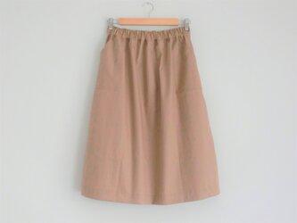 ギャザースカート beigeの画像