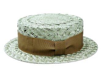 ケンマ草レース編みカンカン帽(無地リボン)(19SSN-007R)の画像