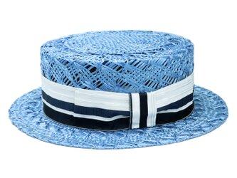 ケンマ草レース編みカンカン帽(柄リボン)(19SSN-007R)の画像