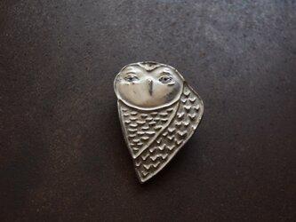 ブローチ(銀彩) フクロウ-1の画像