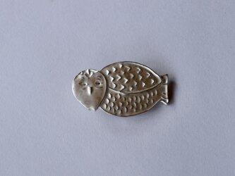 ブローチ(銀彩) フクロウ-9の画像