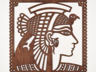ビッグウッドフレーム「クレオパトラ」(木の壁飾り)の画像