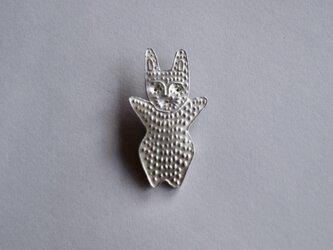 ブローチ(銀彩) ウサギ-1の画像