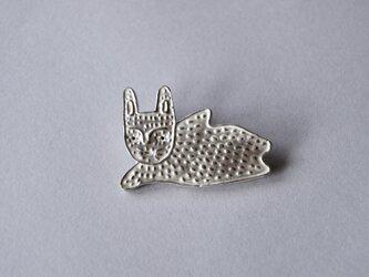 ブローチ (銀彩)ウサギ-4の画像