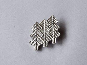 ブローチ(銀彩)木-4の画像