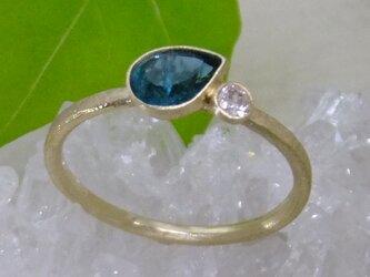 グランディディエライト*K14lunapinkgold ringの画像