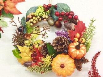 秋のリース パンプキンの画像
