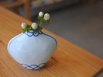 【再販】コバルト色の手描きの花瓶 Sの画像