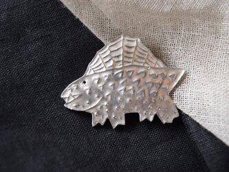ブローチ(銀彩) 恐竜-2の画像