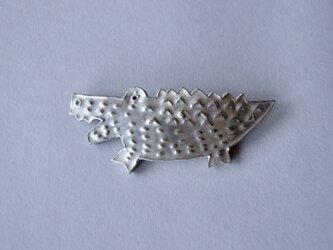 ブローチ(銀彩) ワニ-1の画像