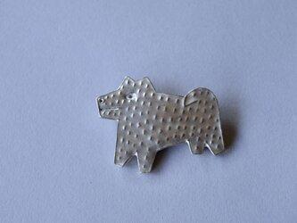 ブローチ(銀彩) イヌ-1の画像