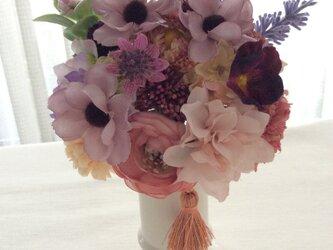 仏花   真珠の涙    珠  (造花、仏壇、お供え、お盆、お彼岸)の画像