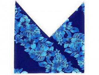 ハワイアンファブリック あづま袋 ハイビスカス柄 ネイビー[mha-205s60]の画像
