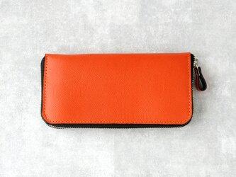 《Raffine》◇ラウンドファスナー長財布◇オレンジ◇の画像