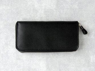 《Raffine》◇ラウンドファスナー長財布◇ブラック◇の画像